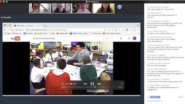 online learning platform for American University.